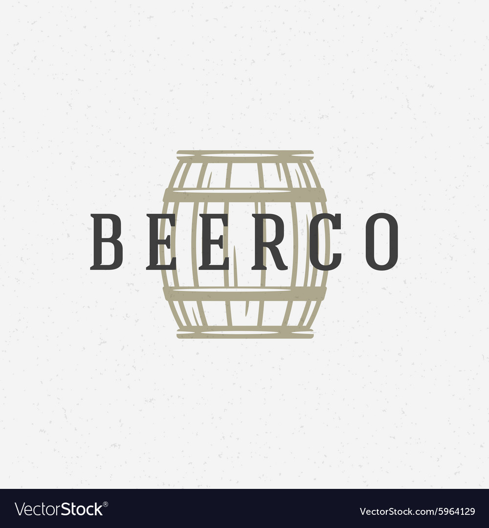 Beer barrel logo or badge design element