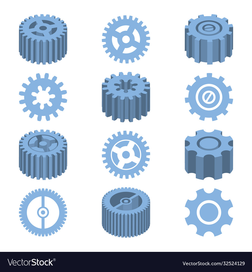 Isometric gears set mechanical design