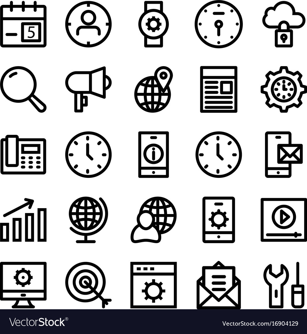 Seo and marketing line icons 2