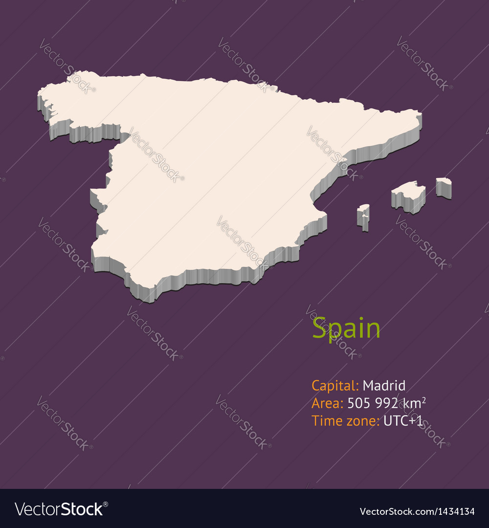 Map Of Spain Over Time.3d Map Of Spain