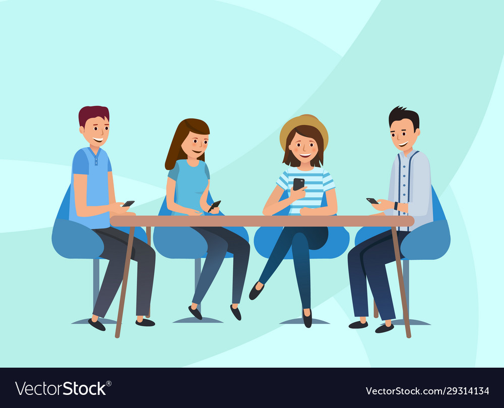 A team guys sitting in office at table