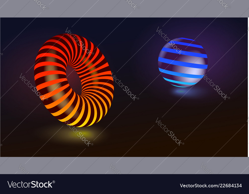 Abstract geometric shapes circle and sphere