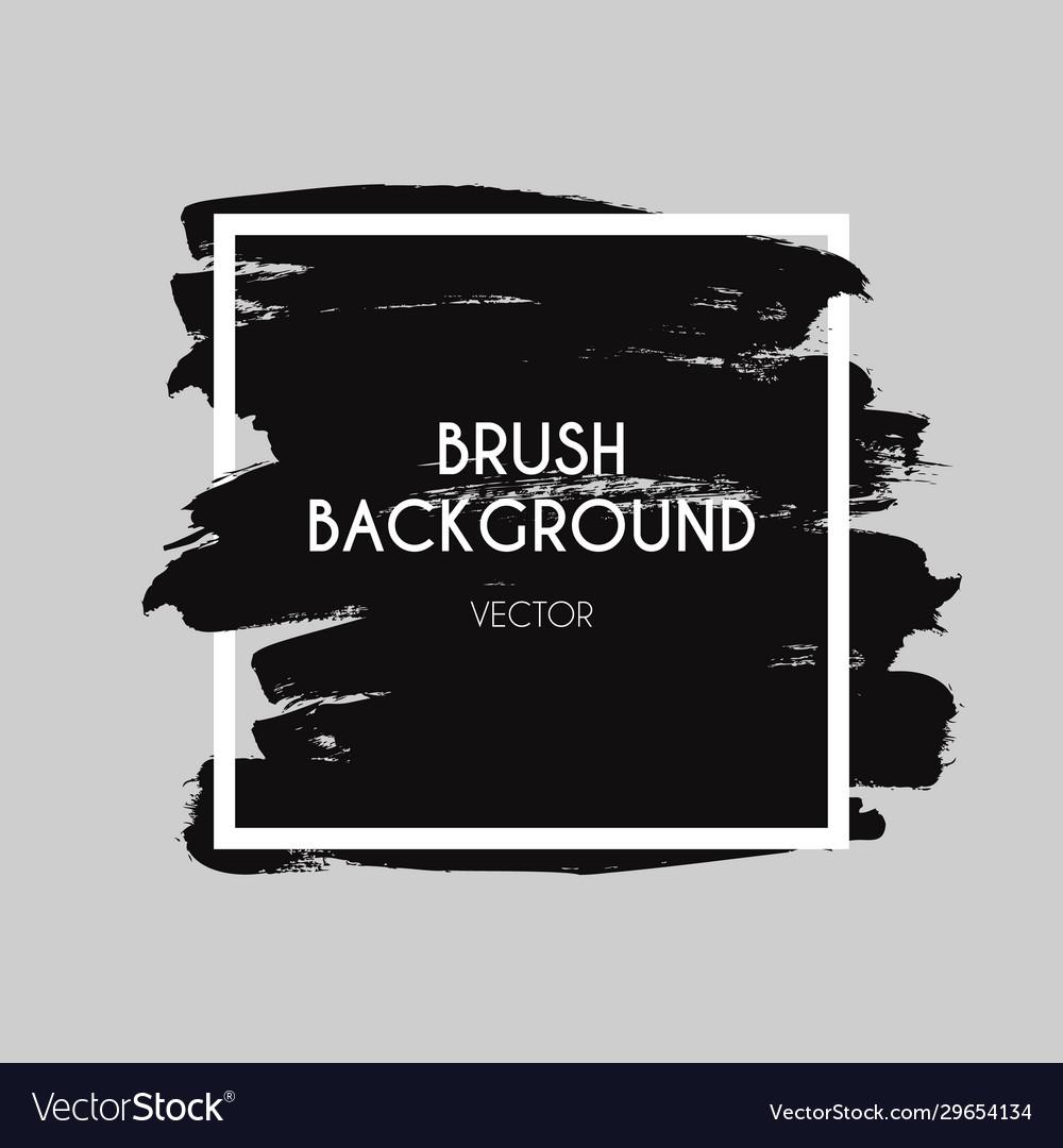 Brush logo brushed texture ink paint strokes