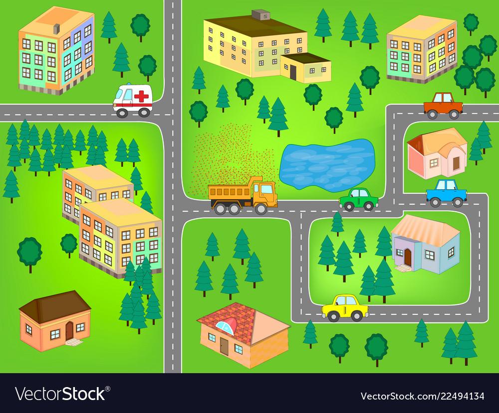 City map for children play mat