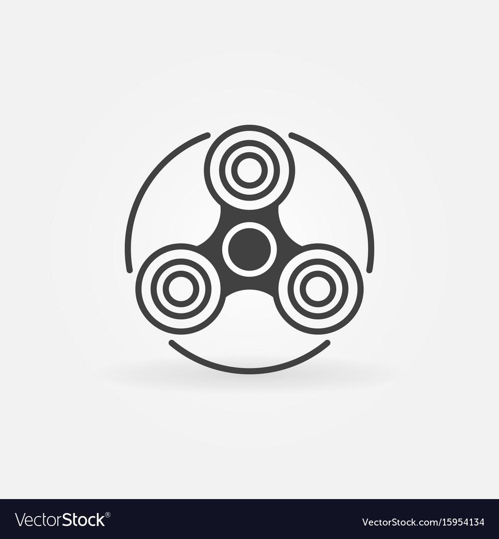 Fidget spinner simple icon