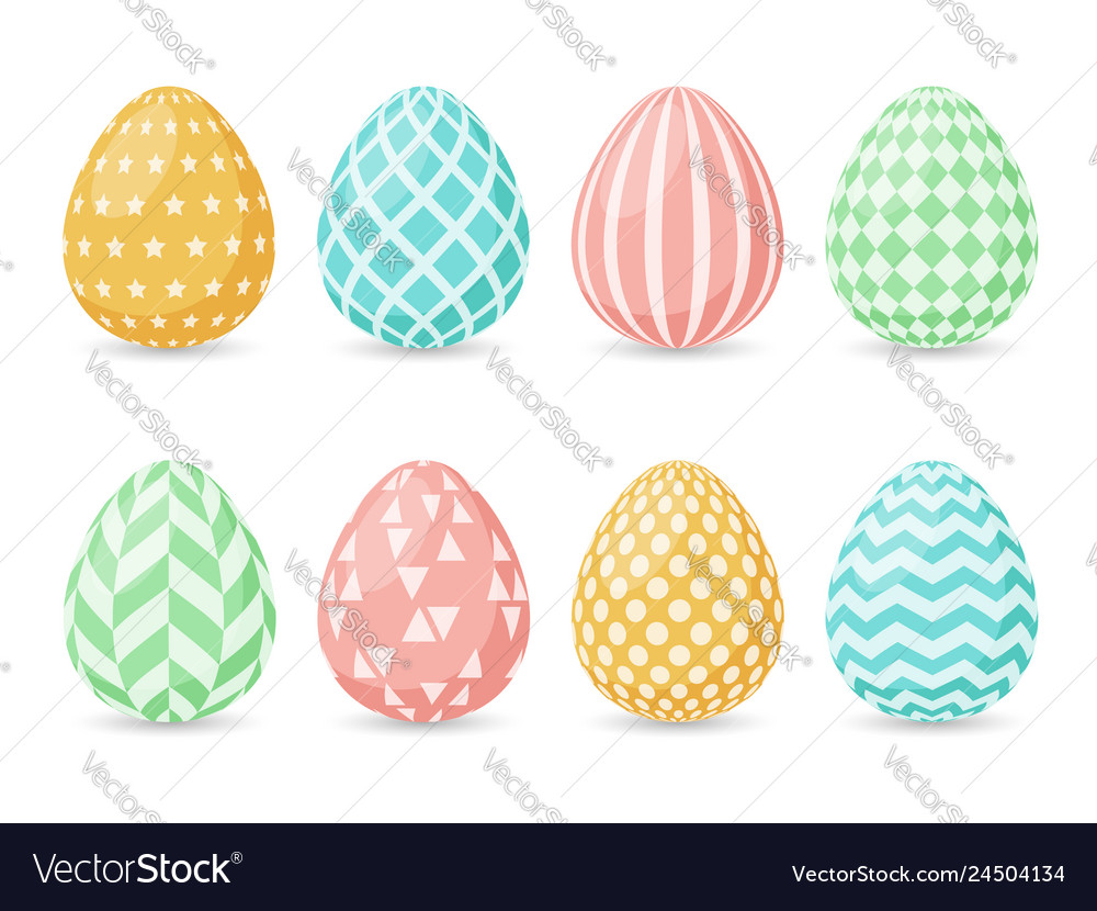 Happy easter design collection of easter eggs