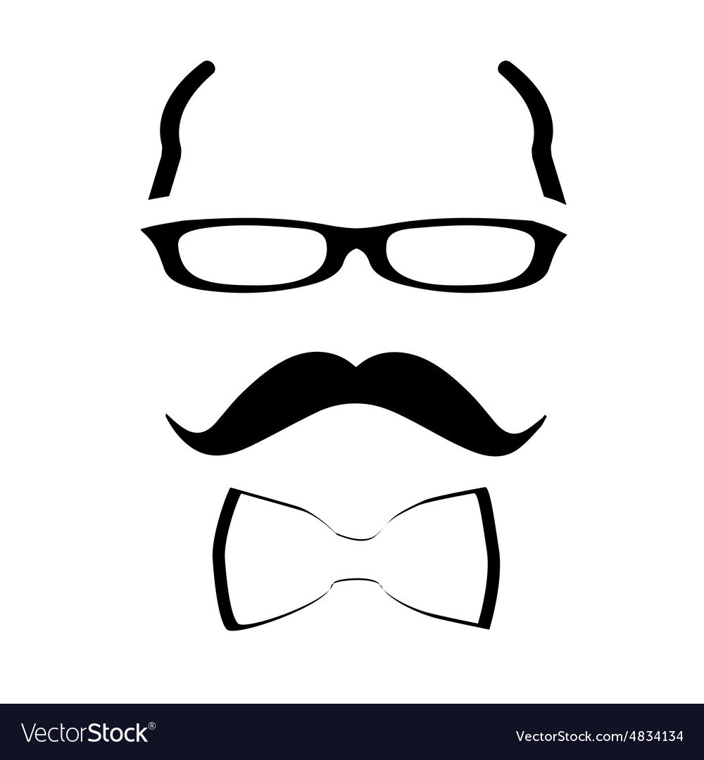 Hipster man vector image