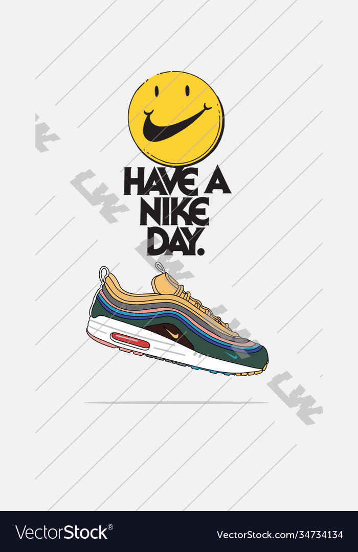 Nike air max 197 sean wotherspoon Royalty Free Vector Image