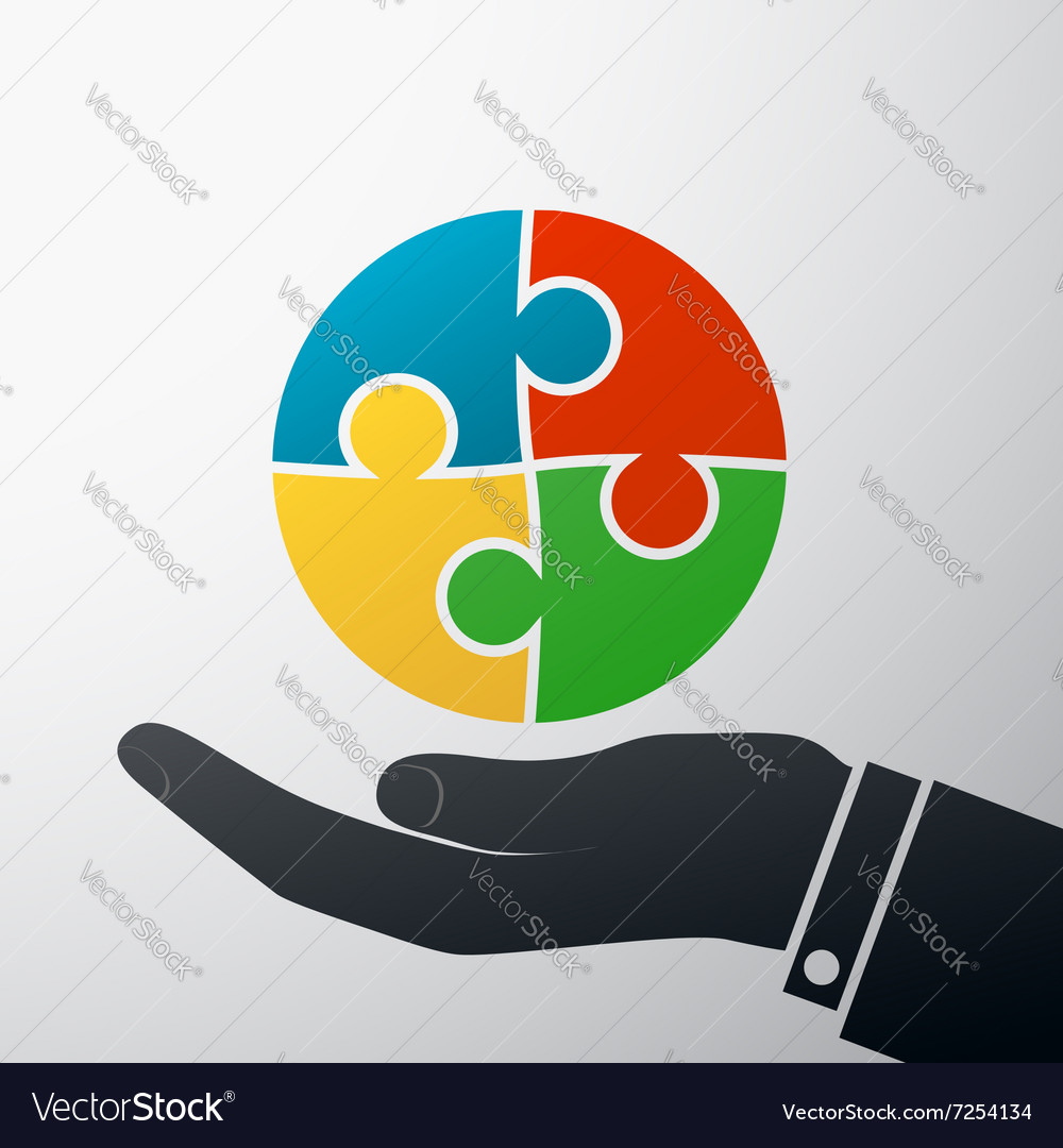 Puzzle pieces Stock vector image