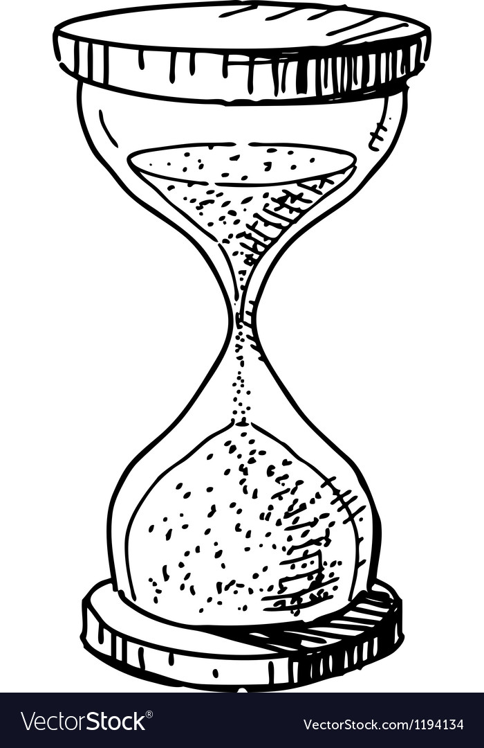 sand glass clock royalty free vector image vectorstock Out of Time Hourglass sand glass clock