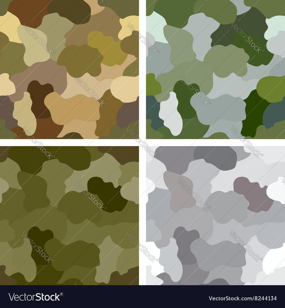 Set of original camouflage patterns