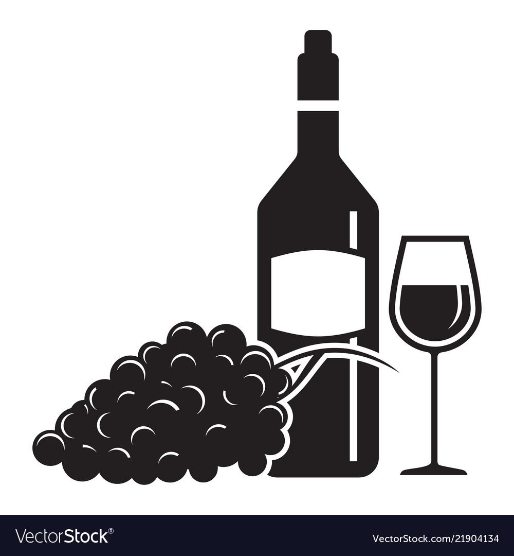 Wine wine glass and grape