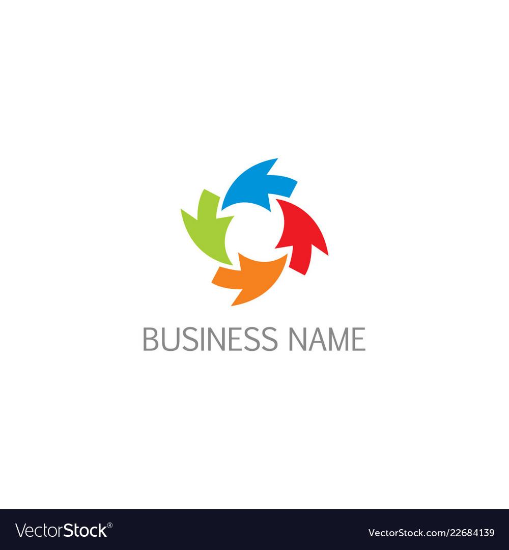 Arrow circle colorful business logo