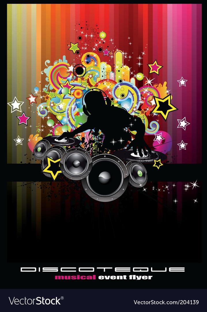 Disco event vector image