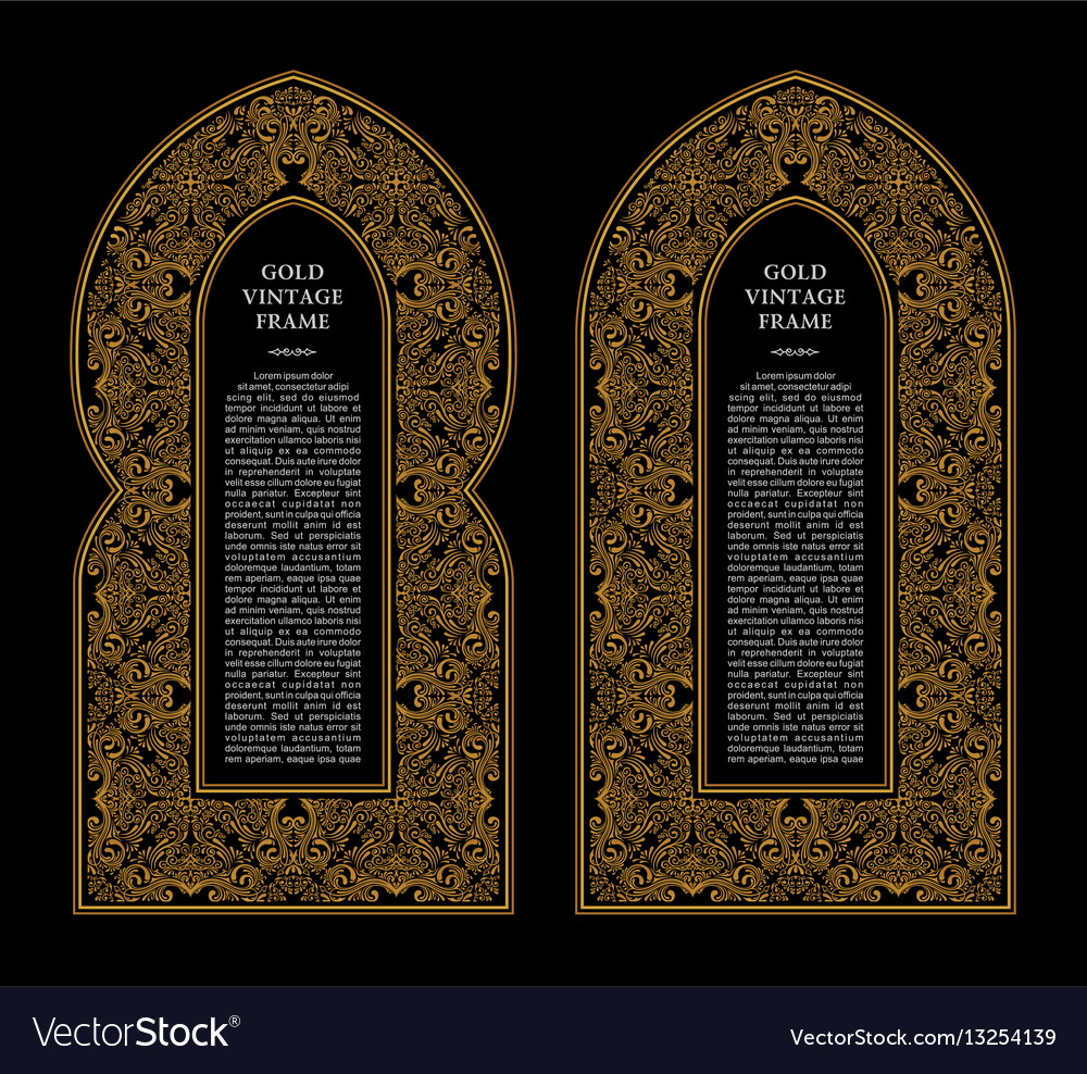 Eastern gold frames arch template design