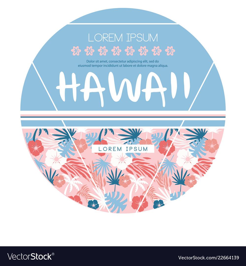 Hawaii country club print
