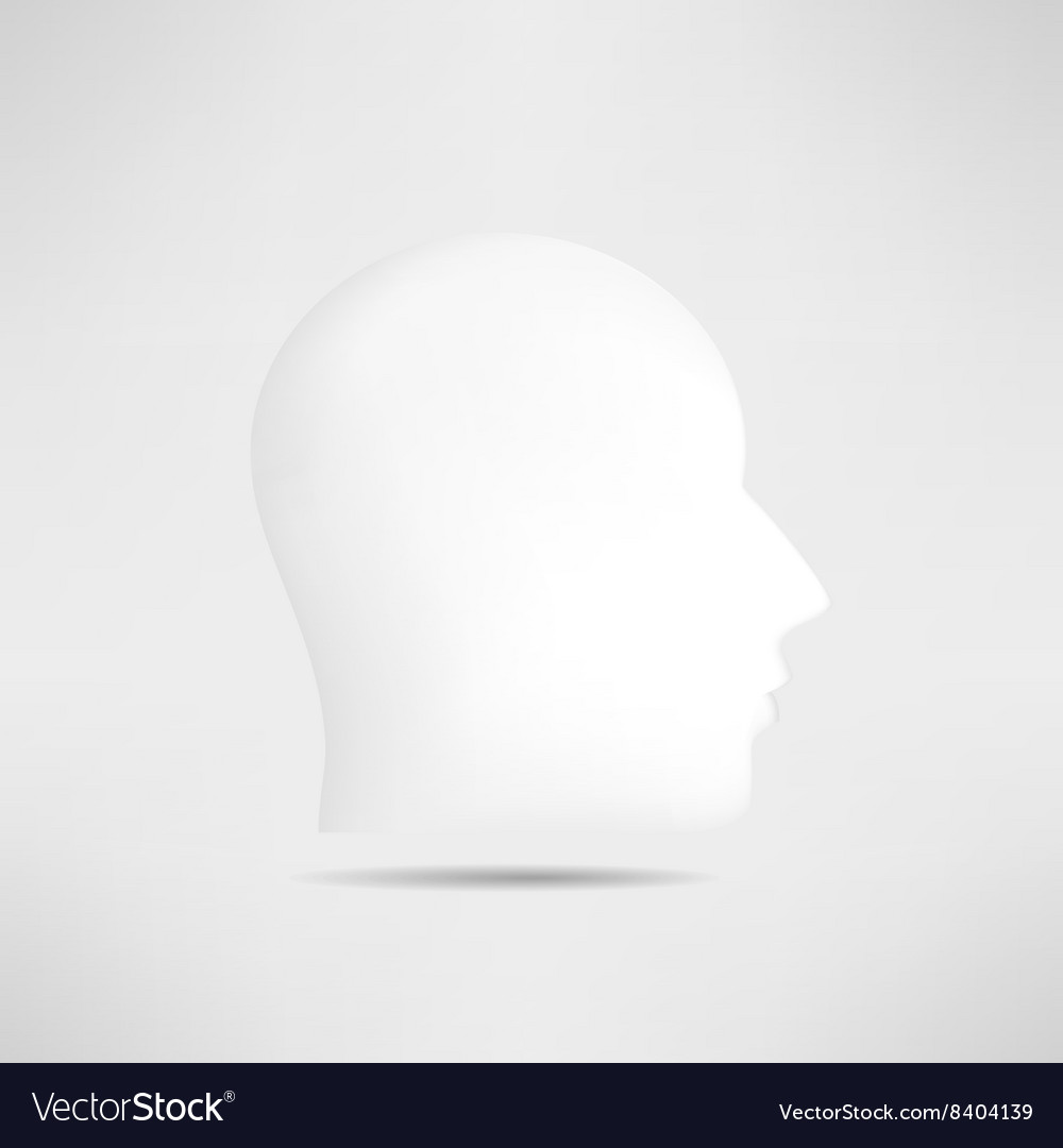 Human head profile silhouette isolated 3d mans