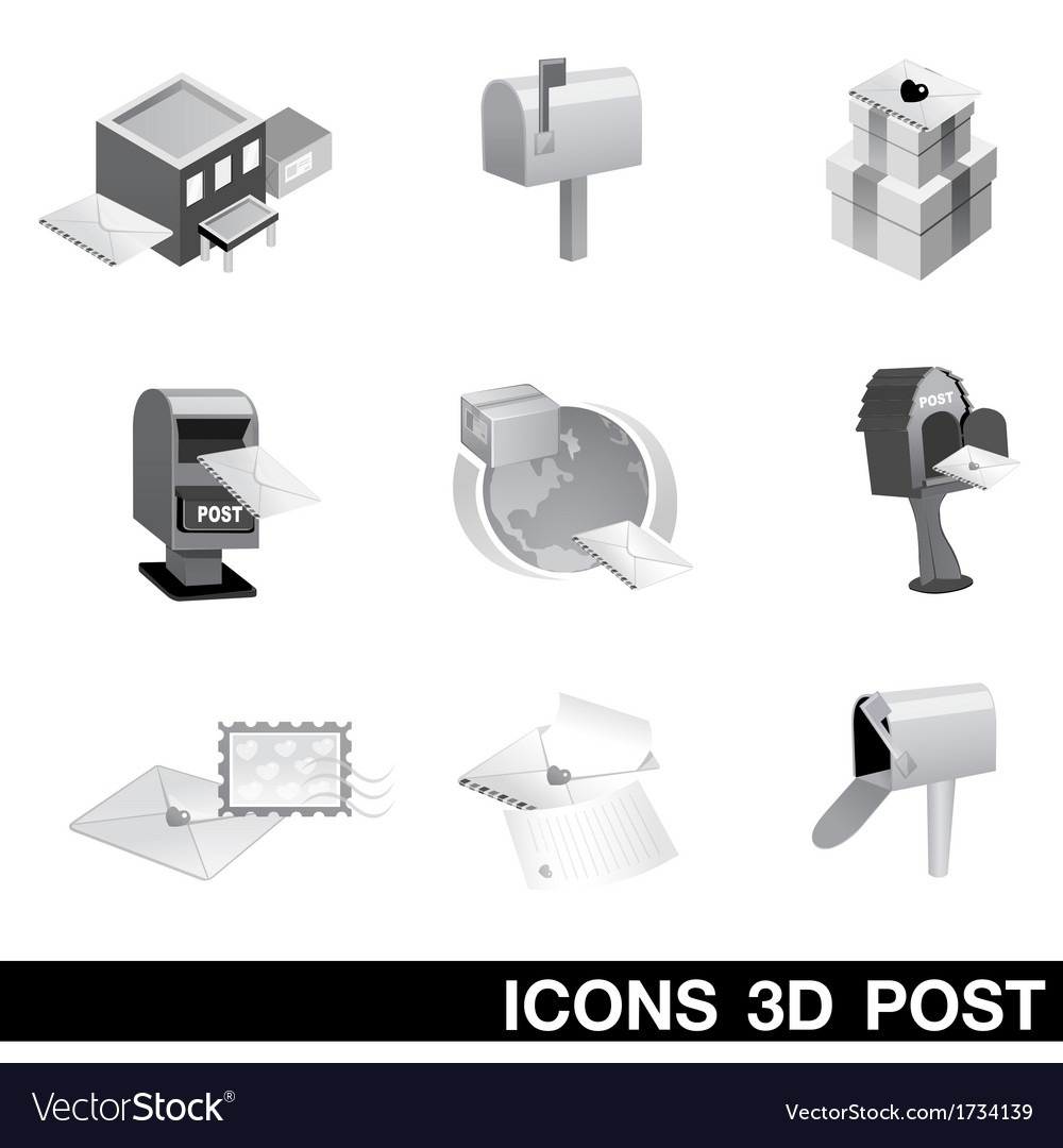 Icon Set 3D Post