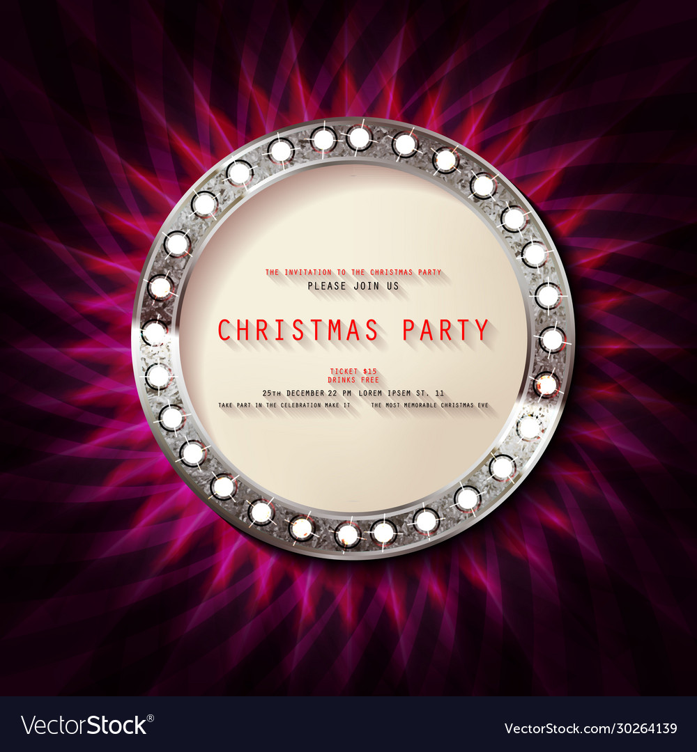 2021 Christmas Ebvent Invitation Merry Christmas Party 2021 Royalty Free Vector