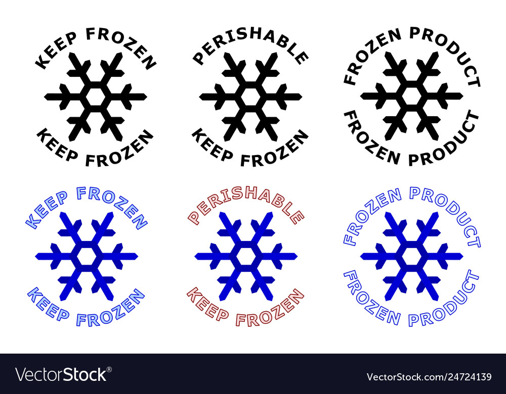 Keep frozen sign snowflake symbol with text