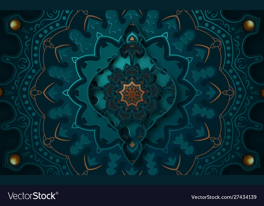 Paper Graphic Islamic Geometric Art Islamic Vector Image
