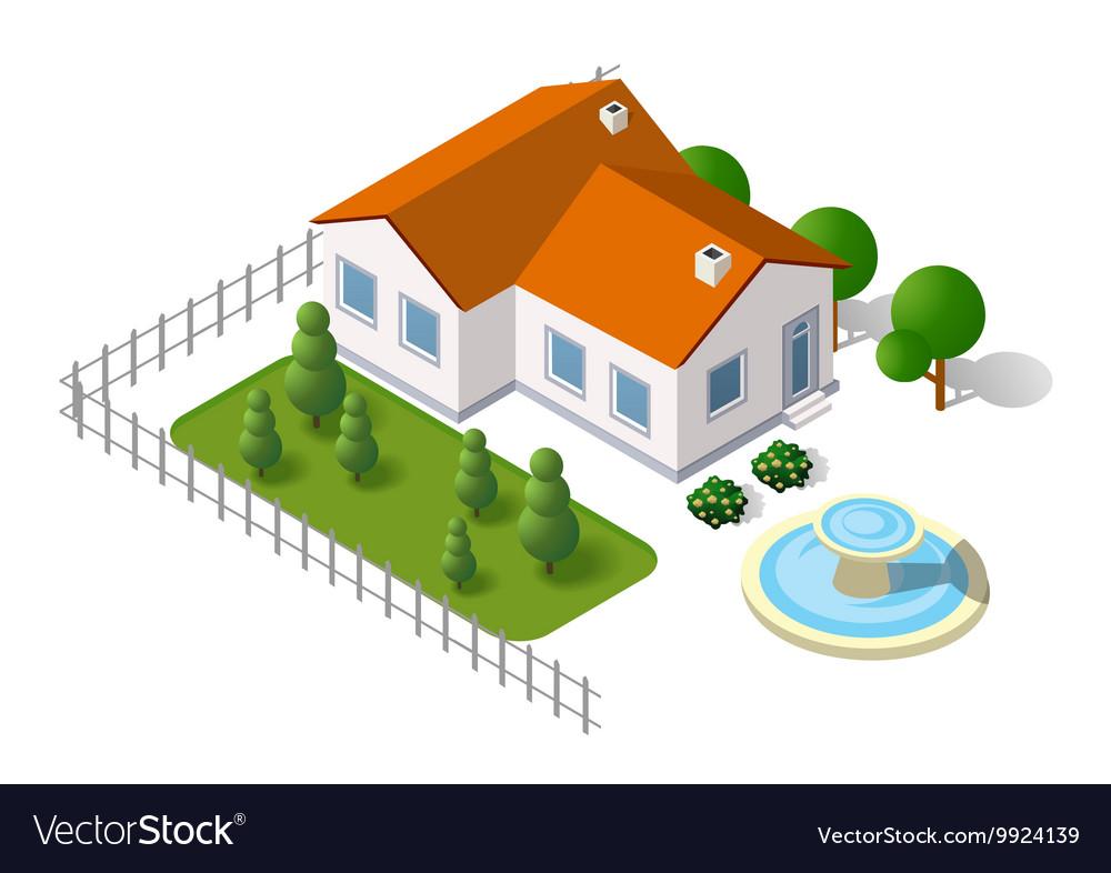 Rural landscape elements vector image