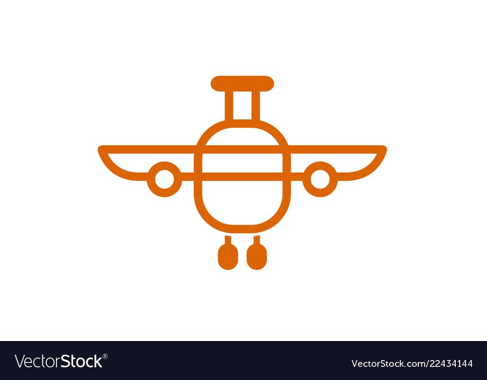 Airplane bag abstract creative air design logo
