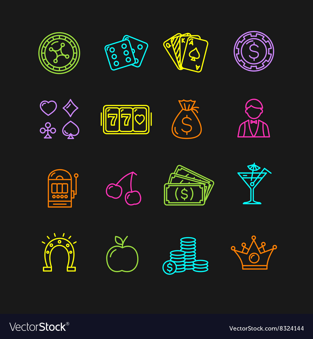 Casino Icon Color Set