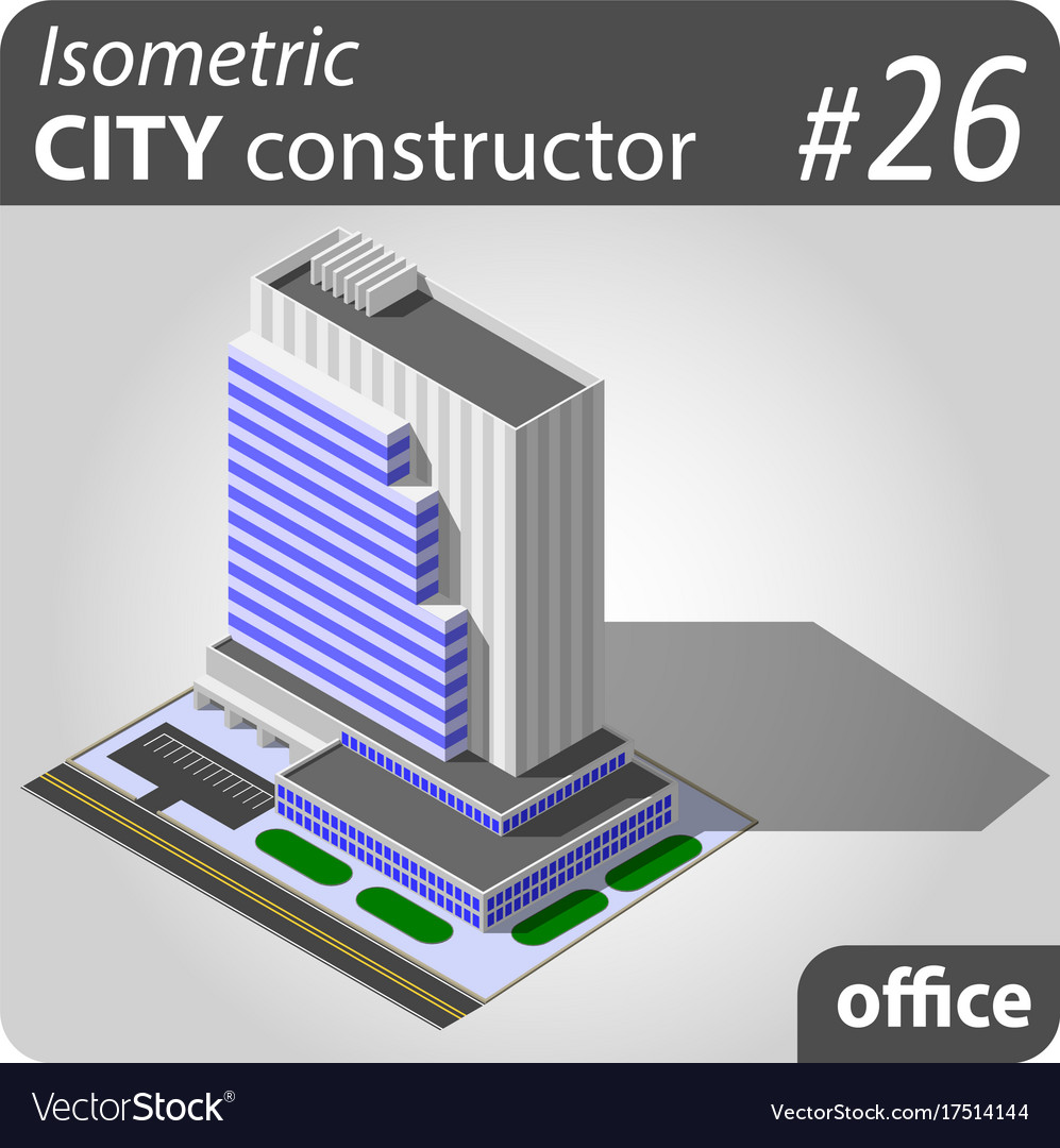 Modern isometric skyscraper