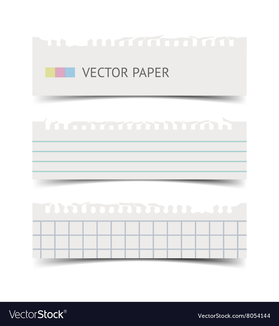 Old fashion notebook paper sheets banner vector image