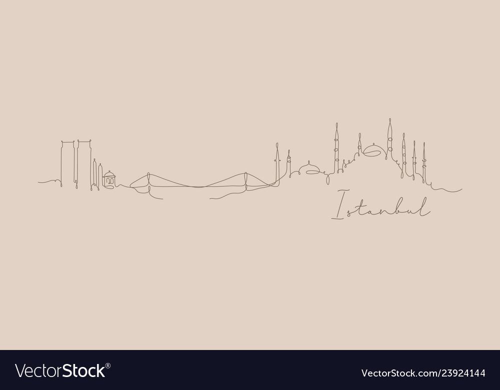 Pen line silhouette istanbul beige