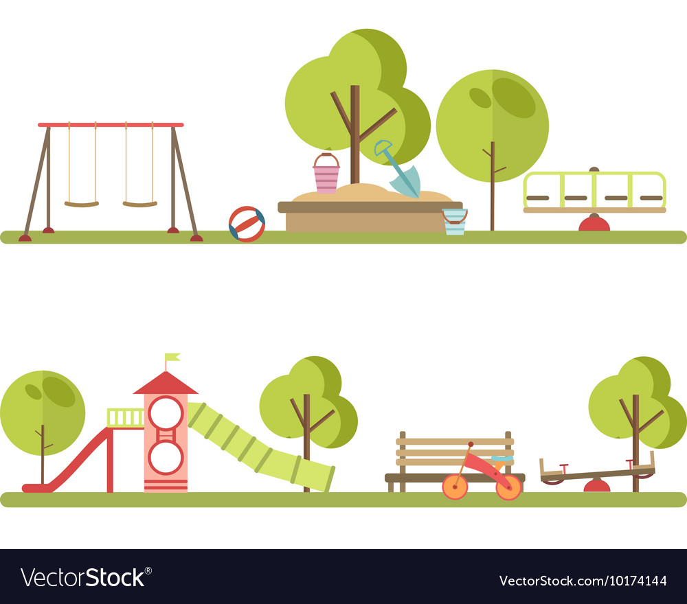 Playground infographic elements vector image