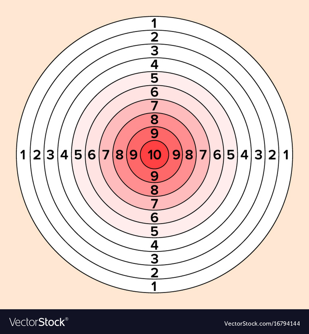 Shooting target paper shooting target for vector image