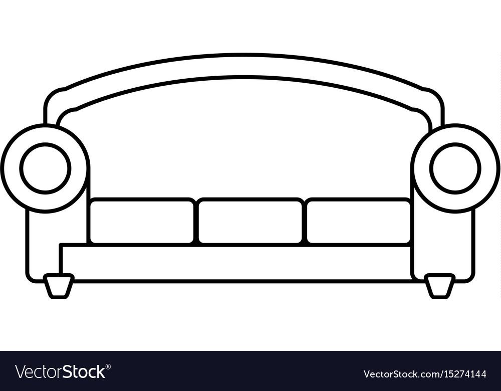 Sofa furniture symbol