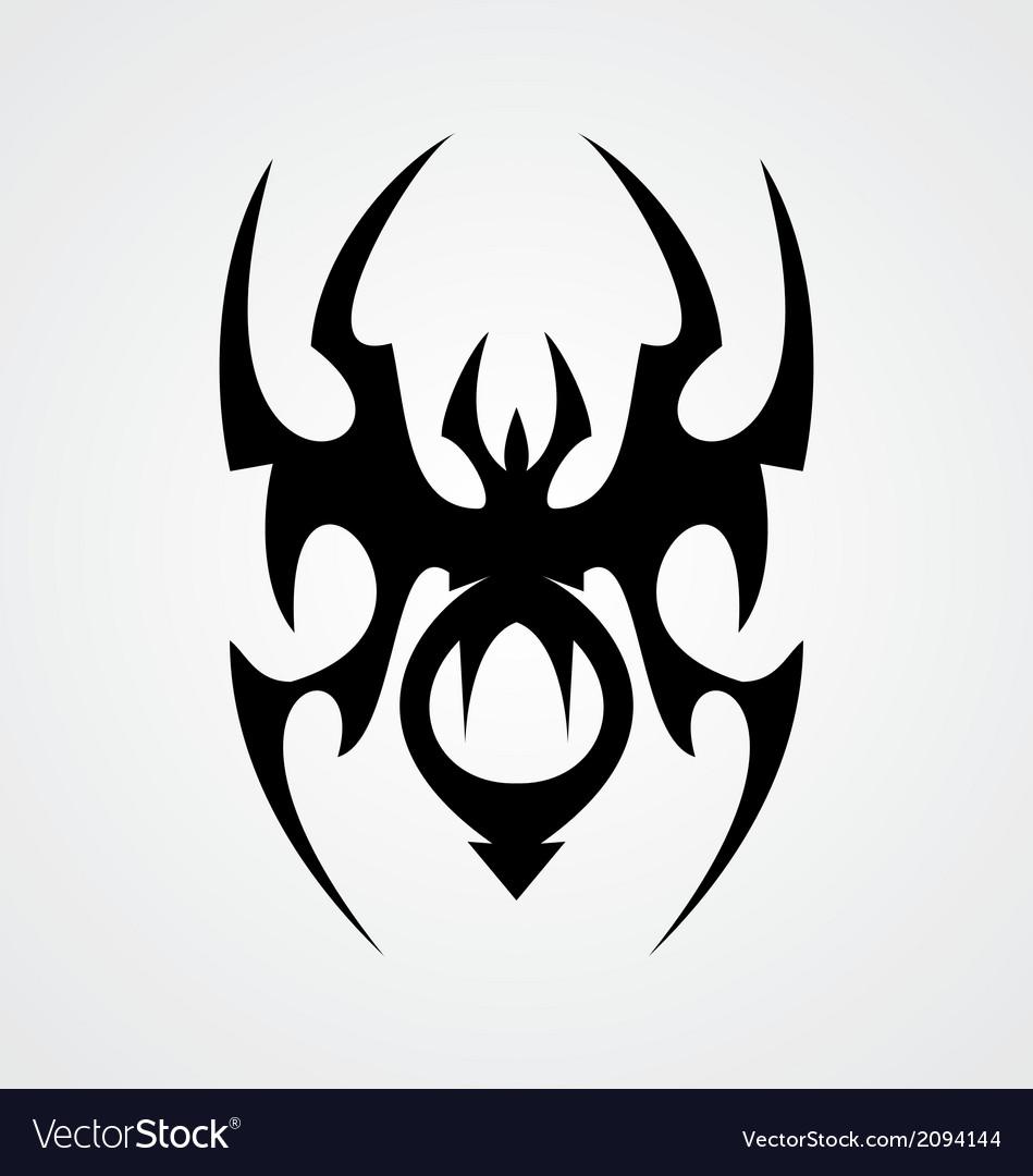 spider tribal royalty free vector image - vectorstock  vectorstock