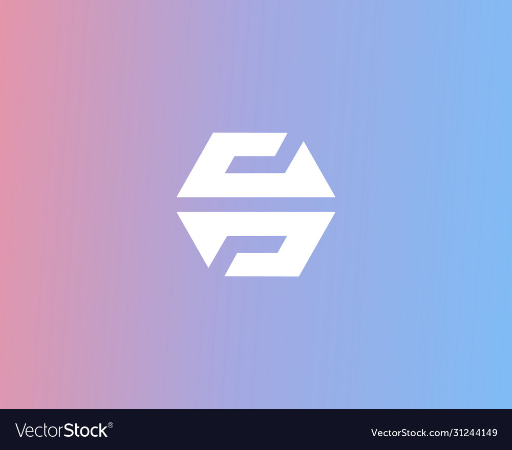 Abstract letters s g logo design template