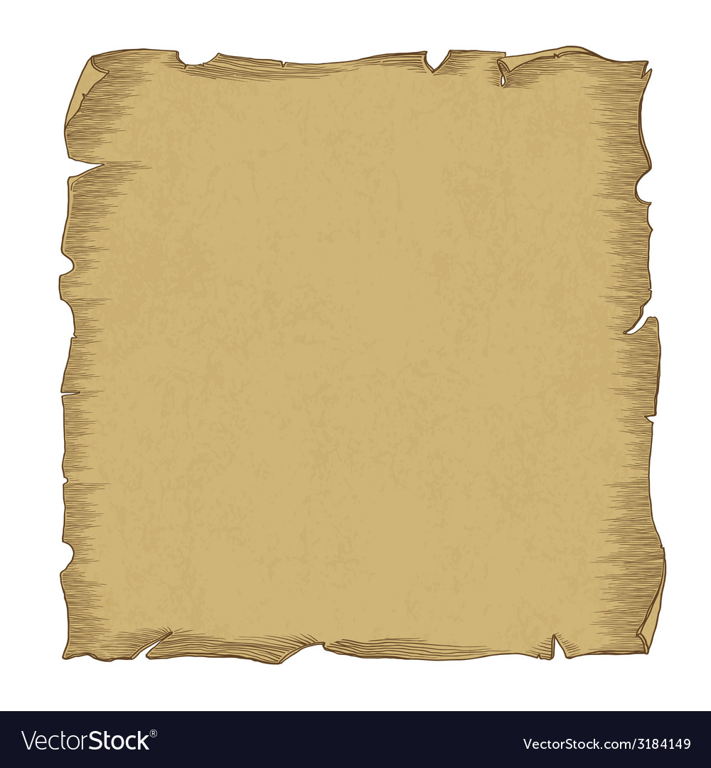 Aged scroll paper