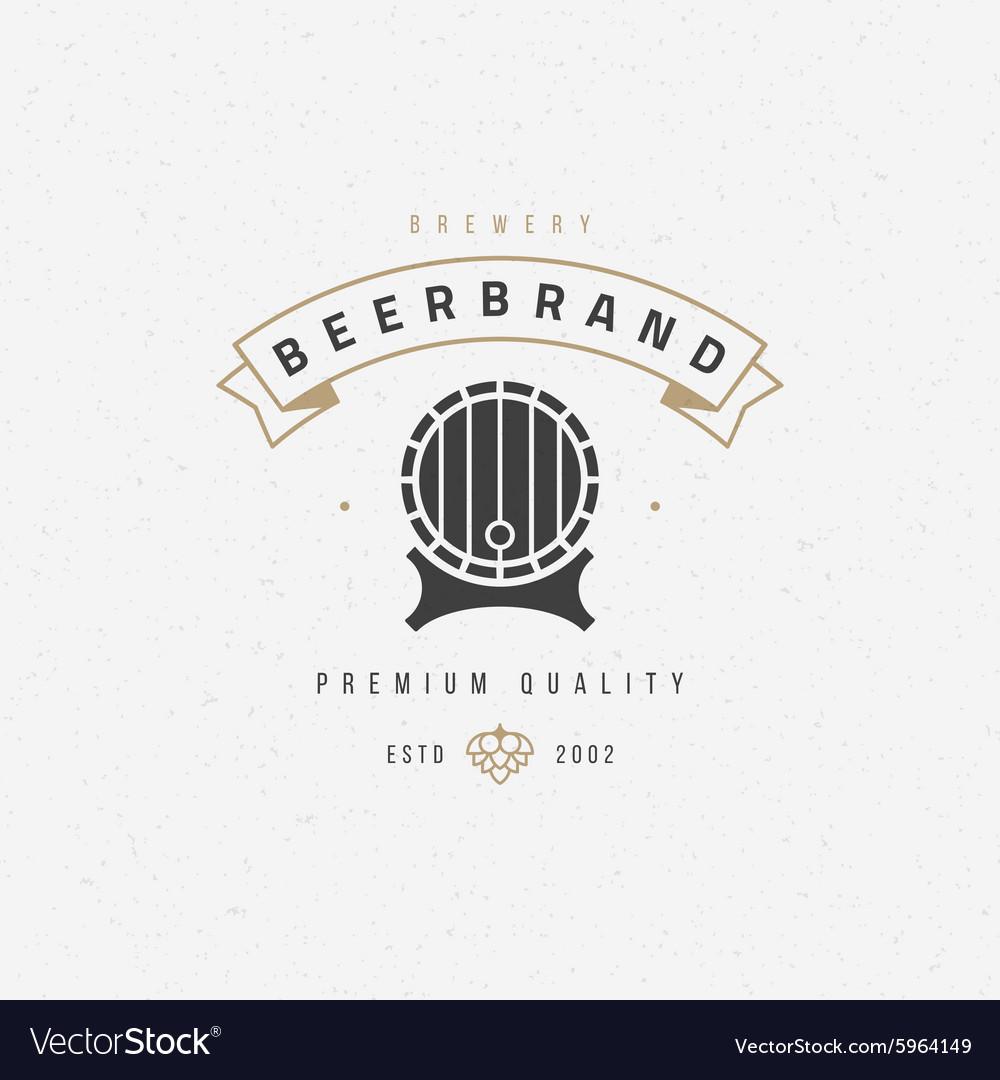 Beer barrel logo or badge design element