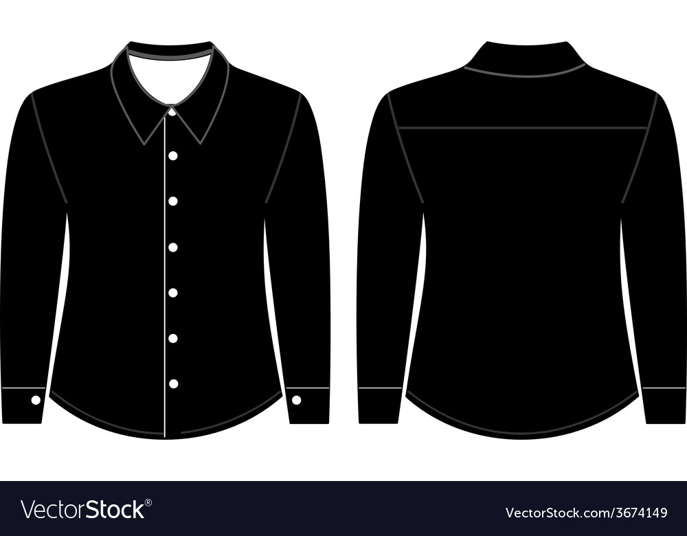Blank shirt with long sleeves template Royalty Free Vector