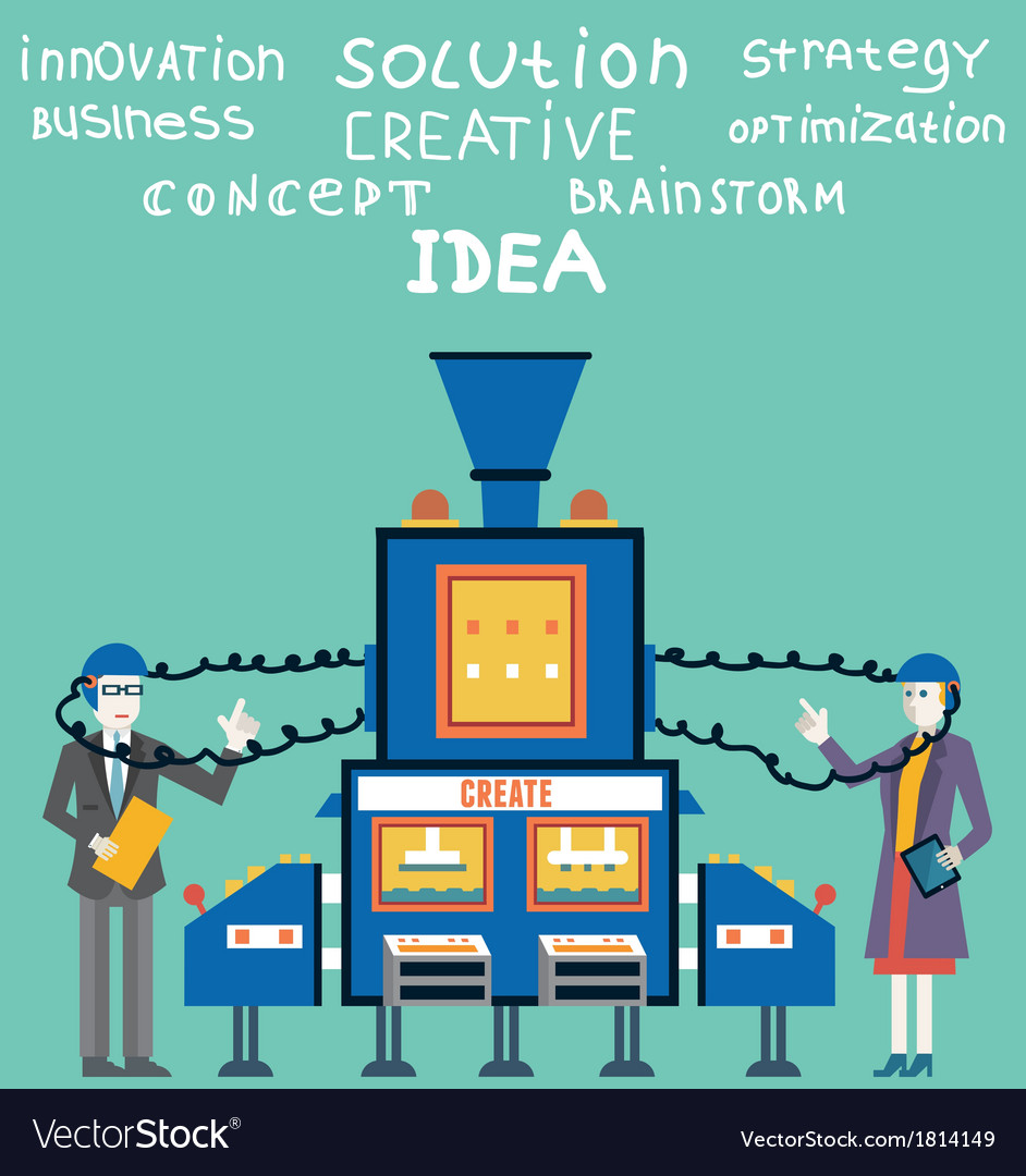 Brainstorm of businessman and businesswoman vector image