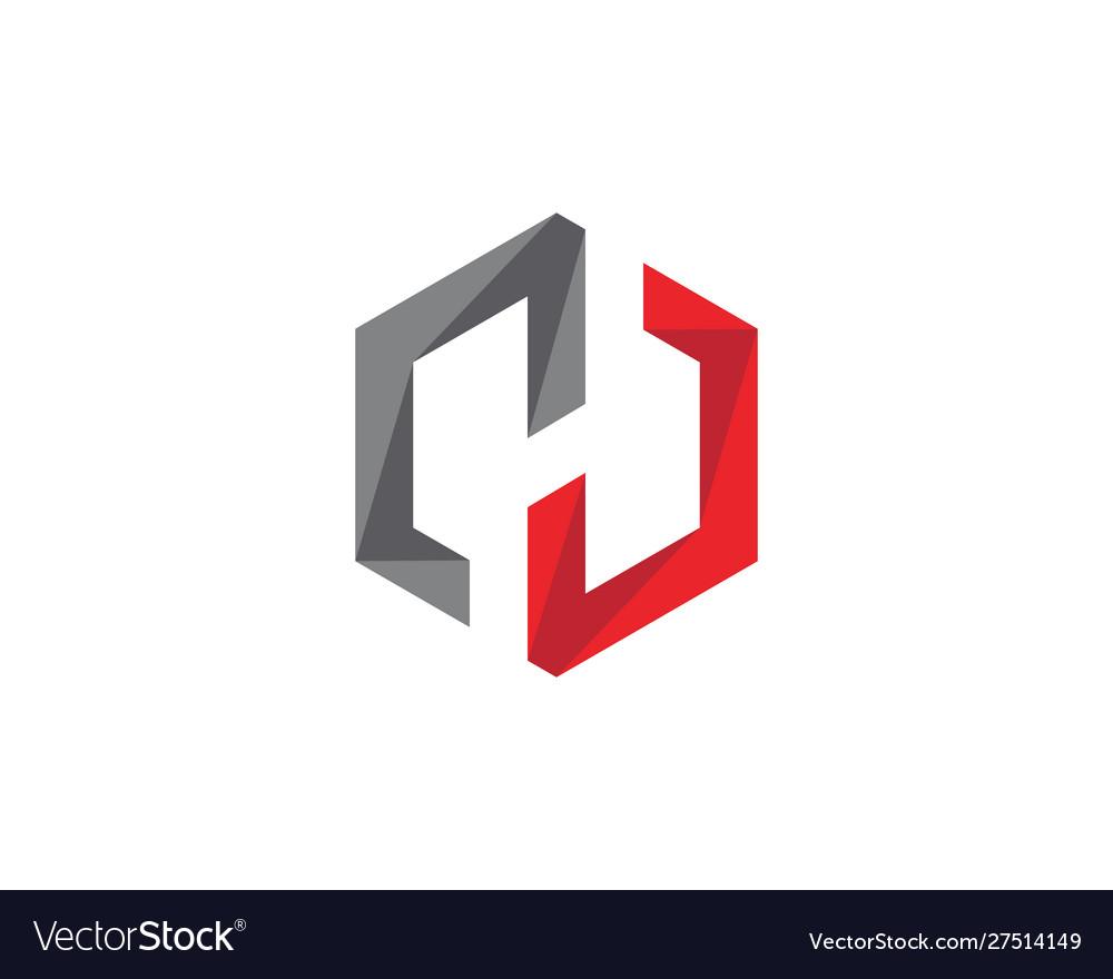 H logo hexagon icon