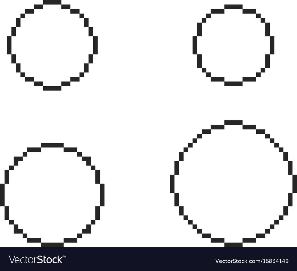 pixel circles set royalty free vector image vectorstock