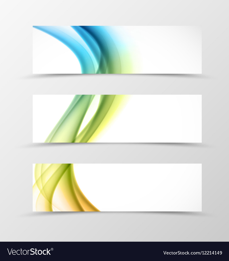 Set of header banner swirl design