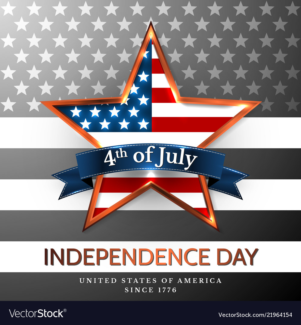 4 th july usa star independence day