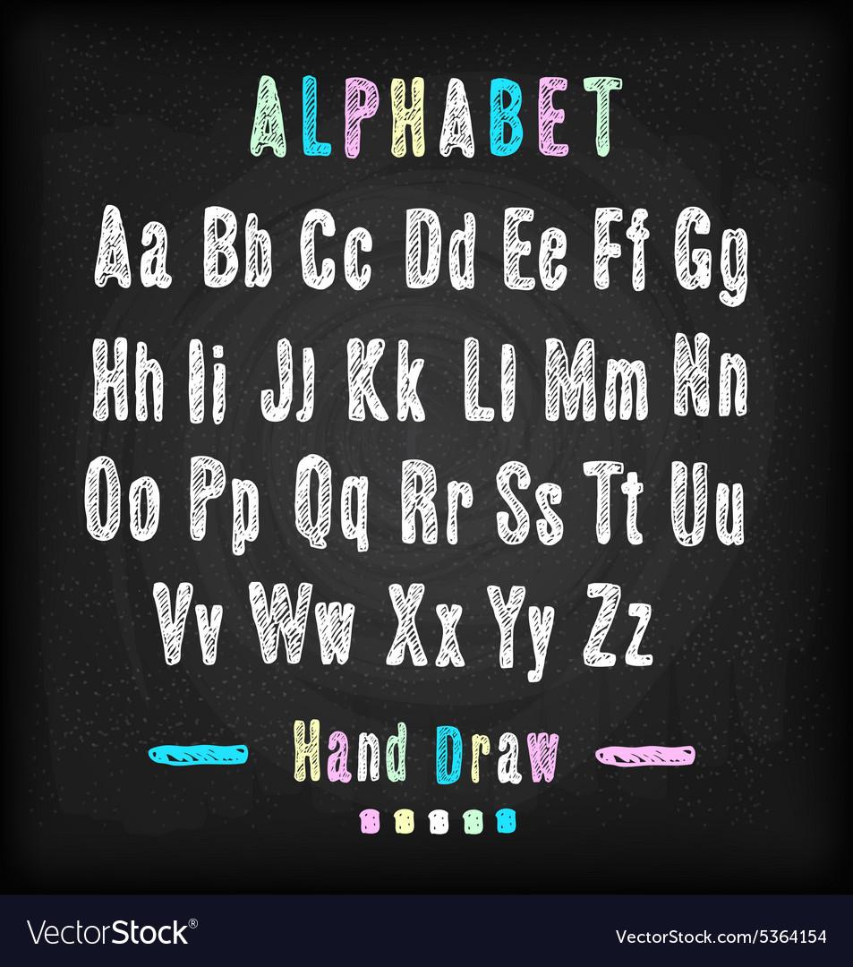 Chalkboard font Hand draw alphabet