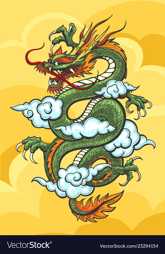 Chinese dragon colorful