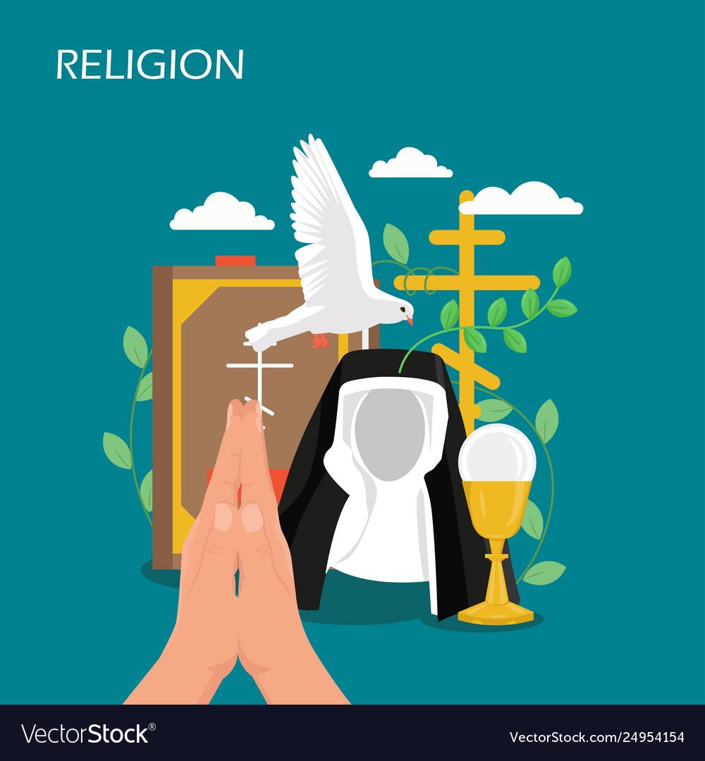 Christianity religion flat style design