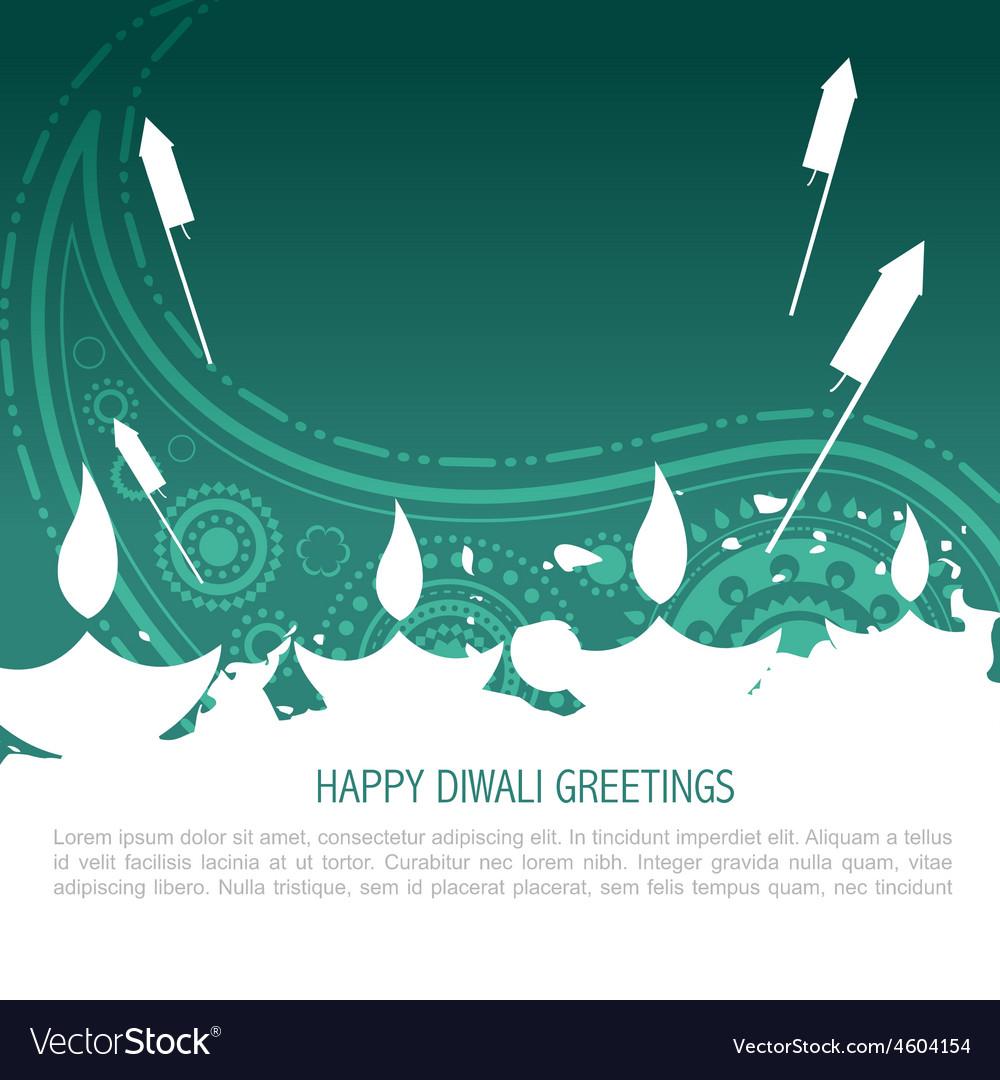Colorful diwali background