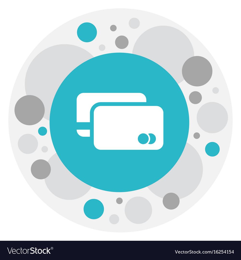 Of business symbol on debit vector image
