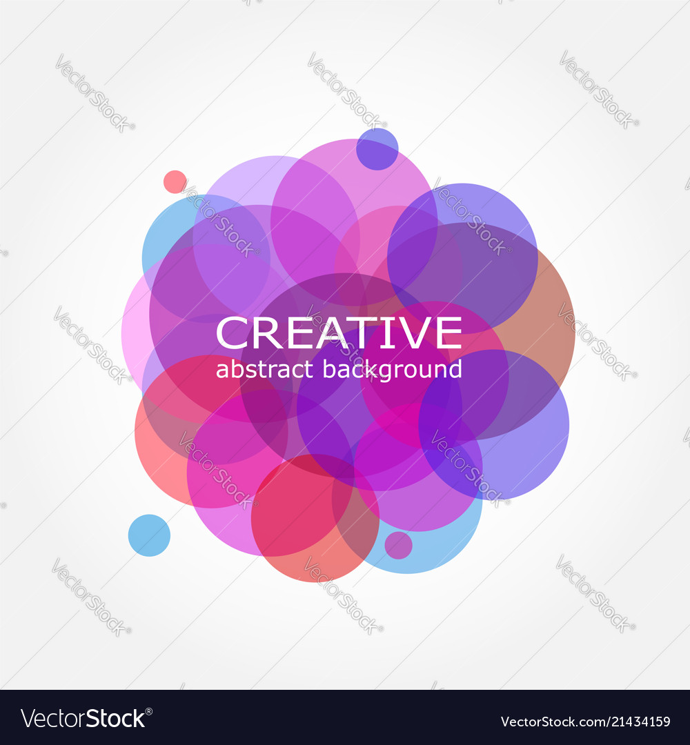 Abstract colorful background sumi circle design